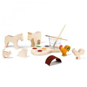 kreativ Set Holzfiguren zum Selbermalen
