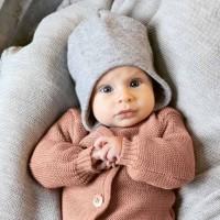 Wintermütze Wolle grau Ohrenschutz