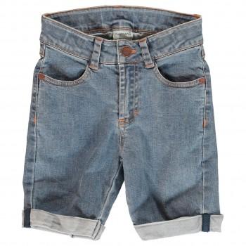 Elastische Jeans Shorts knielang medium Denim
