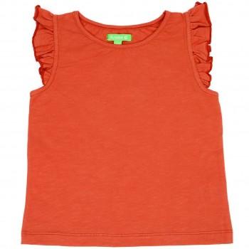 Bio T-Shirt leicht Schmetterlingsärmel rot