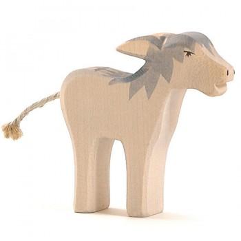 Störrischer Esel Holzfigur 9 cm hoch