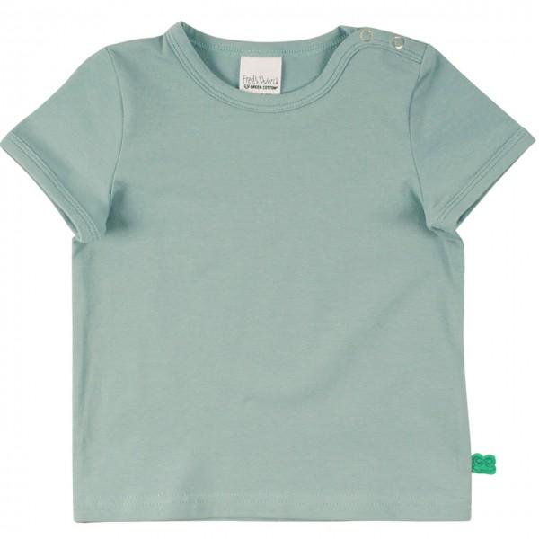 Shirt kurzarm Basic in grüngrau