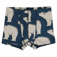 Boxershort Polarbären in dunkelblau