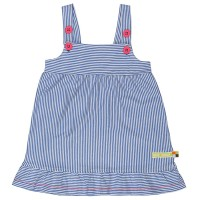 Kleid ohne Arm super leicht blau rosa