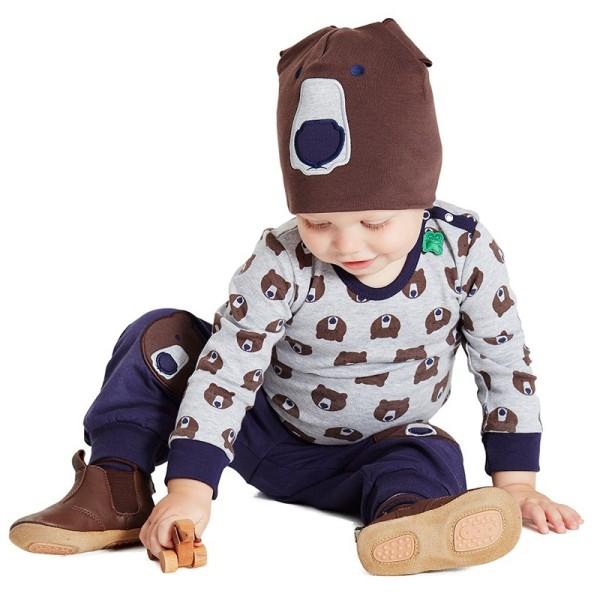 Kinder Beanie Bärenmütze für Herbst