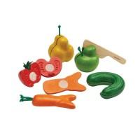 Kromkommer Obst u. Gemüse zum Schneiden aus Holz