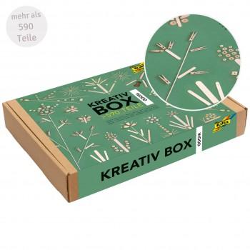 "Bastelbox ""Holz Mix"" aus nachhaltigem Holz über 590 Teile"