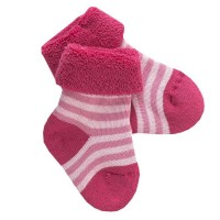 Weiche rosa Frottee Babysocken
