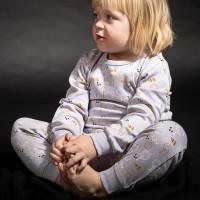 Schlafanzug mit Arm- und Fussbündchen - Igel