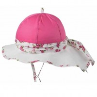 Elegante Kinder Sommermütze zum verstellen - pink