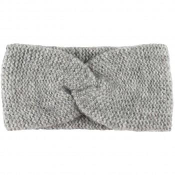 Damen Wolle Stirnband grau melange