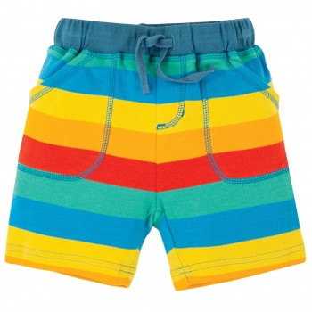 Robuste Jungen Shorts rainbow stripes