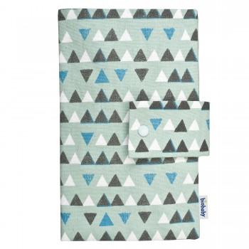 Windeltasche 16 x 26 Bio Baumwolle - blau