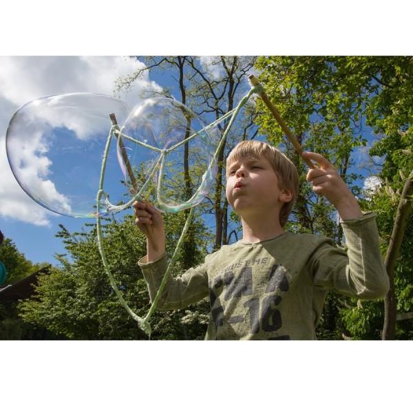 Riesen Seifenblasen 6 Stangen, 3 Seile, Konzentrat 15 Liter