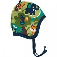 Babymütze leicht mit Ohrenschutz Dschungel