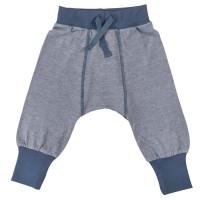 Kuschelige Baby Krabbelhose - blau