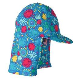 Praktische Bademütze Schirm und Nackenschutz
