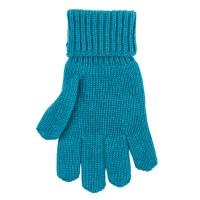 Kinder Handschuhe petrol Strick