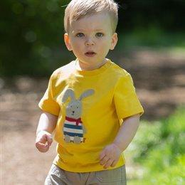 T-Shirt mit Druckknöpfen - Hase