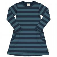 Langarmkleid Streifen in navy-blau
