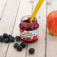 Apfel Heidelbeere für Babys nach dem 4. Monat (125g)