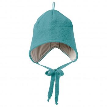 Wintermütze Wolle türkis Ohrenschutz