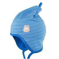 Zipfelmütze leicht doppelt gefertigt Frühlingszeit blau