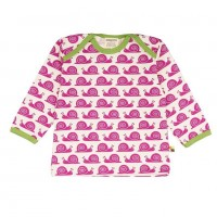 """Bio Shirt """"coole Schnecke"""" von innen ungefärbt - pink"""