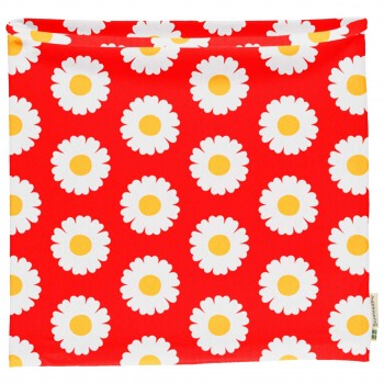 Schlauchschal leicht Gänseblümchen in rot 98/104