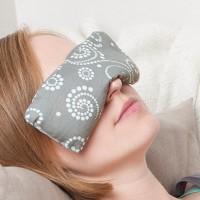 Bio Augenkissen mit Leinsamen mint-grau