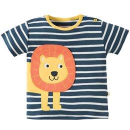 T-Shirt mit grossem Löwen Aufnäher
