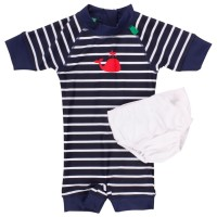 Baby Badeanzug navy gestreift