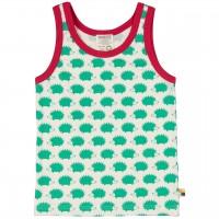 Unterhemd Igel-Druck in grün