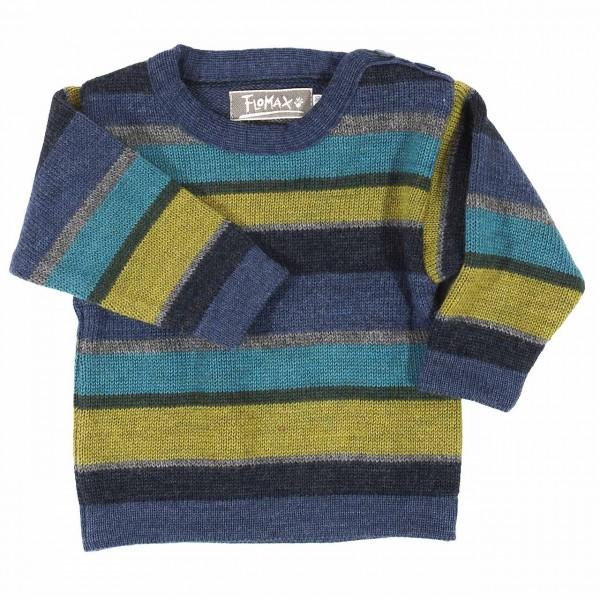 Warmer Baby Pullover Schurwolle blau