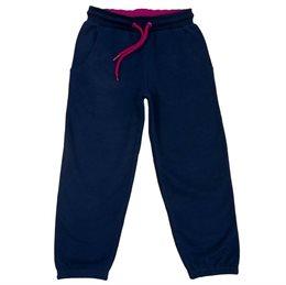 Warme + kuschelige Haus- & Kindergartenhose blau pink