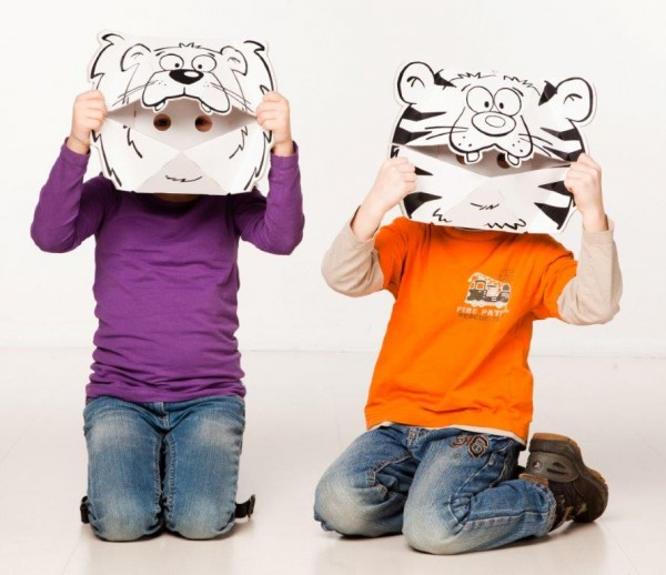 Masken - Löwe und Tiger zum Stecken, malen & spielen