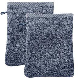 Bio Waschhandschuh 2er Pack blau