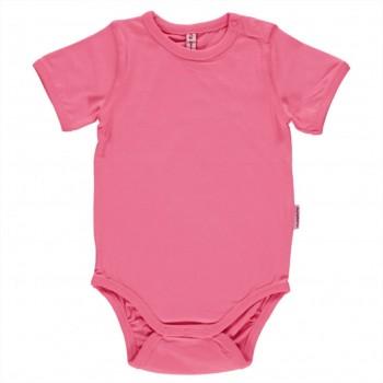 Body kurzarm uni pink-rosa