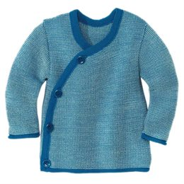 Baby Wickel-Pullover Wolle blau