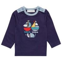 Langarmshirt Baby Segelboote navy
