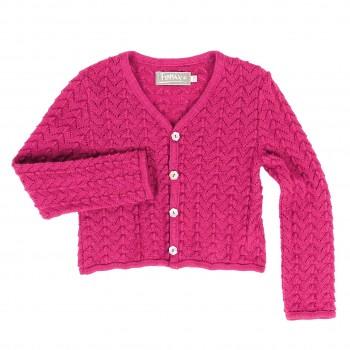 Warme Mädchen Strickjacke Schurwolle