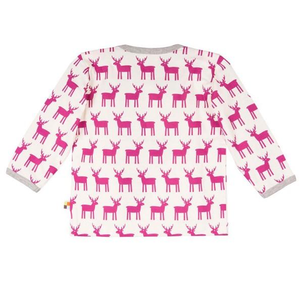 Leichtes Bio Shirt Rentiere beere