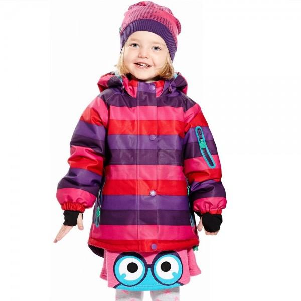 Winterjacke für Kinder super für Waldkindergarten - gestreif
