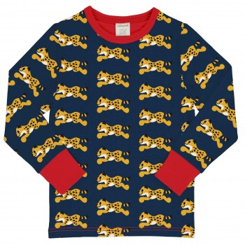Langarmshirt Gepard navy