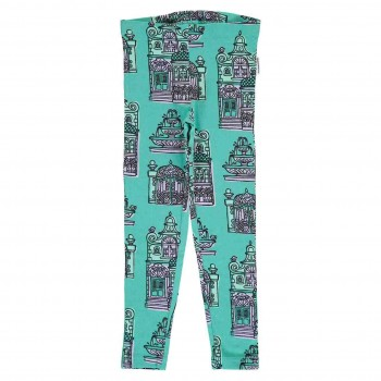 Jersey Leggings Townhouse türkis-blau