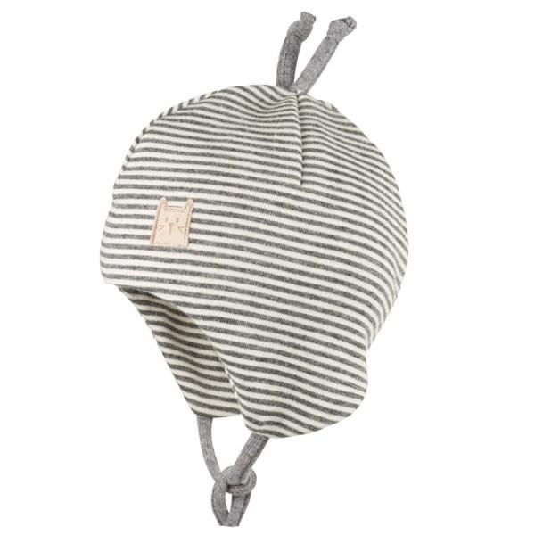 1e777358778f Wolle Seide Babymütze doppellagig atmungsaktiv silber grau ...