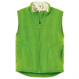 Weste Wolle atmungsaktiv mitwachsend grün