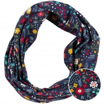 Haarband Blumenprint dunkelblau