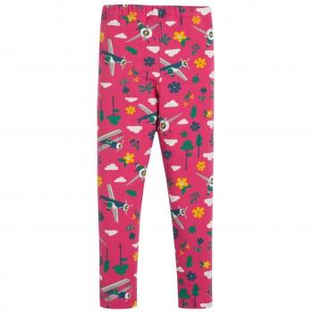 Leggings Flugzeuge Blumen in pink