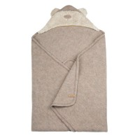 Warme Bären Fleece Decke beige